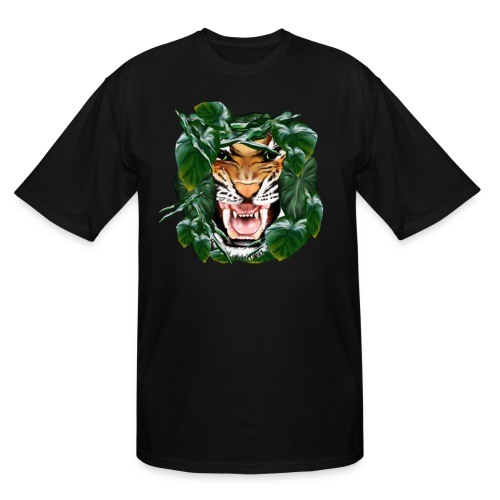 Tiger thru the leaves - Men's Tall T-Shirt