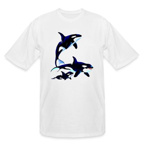 Killer Whale Family - Men's Tall T-Shirt
