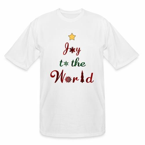 Joy to the world Christmas Tree Star Holiday Plaid - Men's Tall T-Shirt