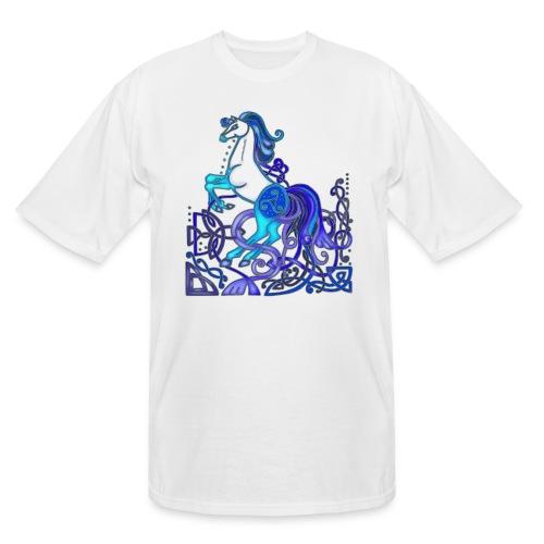 Celtic Horse Silver Blue - Men's Tall T-Shirt