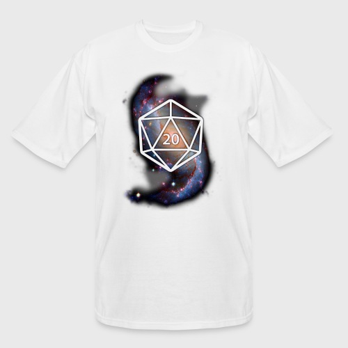Astronomy Geek d20 Galaxy - Men's Tall T-Shirt