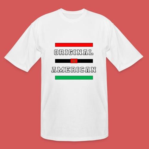 Original American Bars Moorish American Flag - Men's Tall T-Shirt