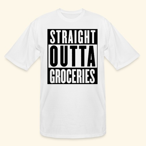 STRAIGHT OUTTA GROCERIES - Men's Tall T-Shirt