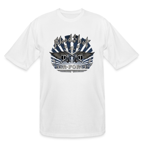 BloodShot Air Force with black - Men's Tall T-Shirt