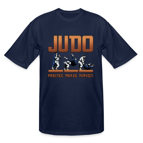 Judo Practice Makes Perfect Design - Men's Tall T-Shirt