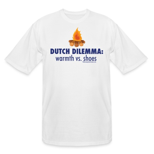 05 Dutch Dilemma blue lettering - Men's Tall T-Shirt