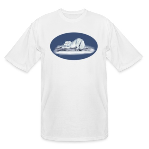 Arctic Fox on snow - Men's Tall T-Shirt
