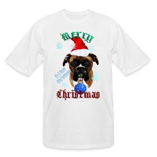 Wonderful-Christmas Boxer Dog - Men's Tall T-Shirt