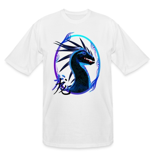 Horned Black Dragon and Symbol - Men's Tall T-Shirt