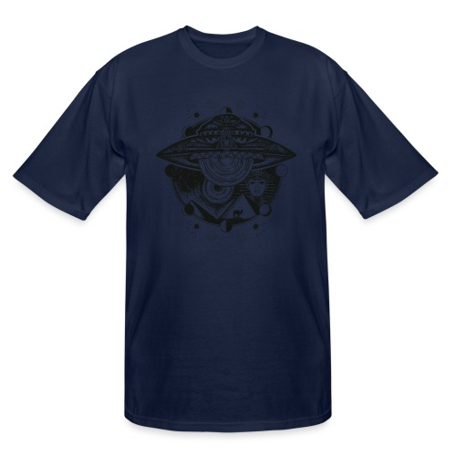 Egyptian Pharaoh Pyramid Alien UFO - Men's Tall T-Shirt