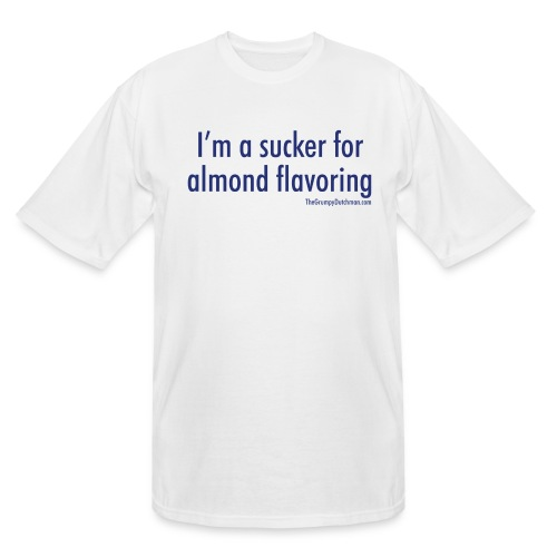18 Almond Flavoring blue lettering - Men's Tall T-Shirt