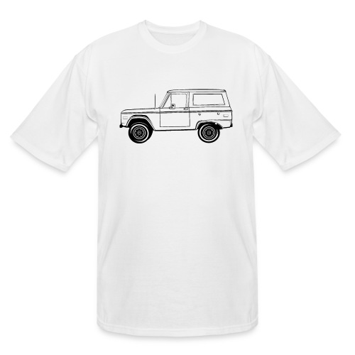 Bronco Truck Line Art Men's T-Shirt - Men's Tall T-Shirt