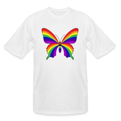 Rainbow Butterfly - Men's Tall T-Shirt