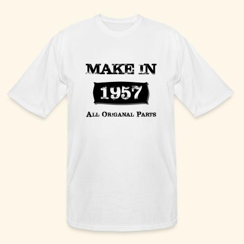Birthday Gifts Made 1957 All Original Parts - Men's Tall T-Shirt