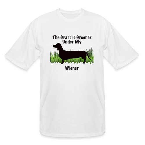 Wiener Greener Dachshund - Men's Tall T-Shirt