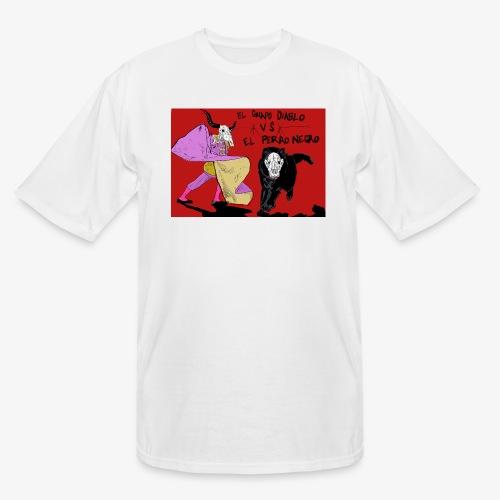 EL GUAPO DIABLO LVS. EL PERRO NEGRO - Men's Tall T-Shirt