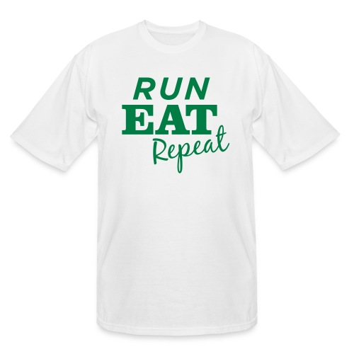 Run Eat Repeat buttons medium - Men's Tall T-Shirt