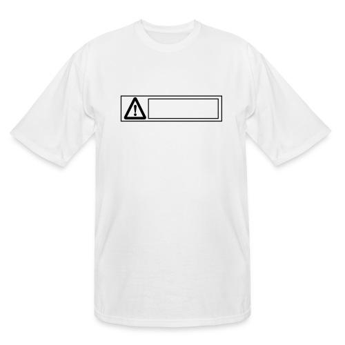 warning sign - Men's Tall T-Shirt