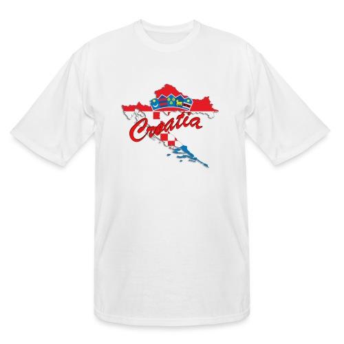 Croatia Football Team Colours T-Shirt Treasure Des - Men's Tall T-Shirt