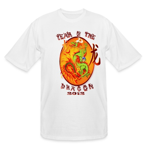 Year Of The Dragon-2012 Oval - Men's Tall T-Shirt