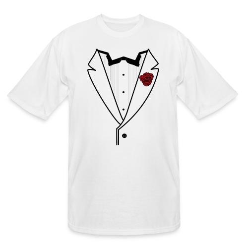 Tuxedo w/Black Lined Lapel - Men's Tall T-Shirt
