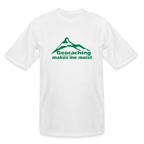 Geocaching in the Rain - Men's Tall T-Shirt