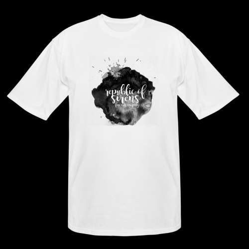 ROS FINE ARTS COMPANY - Black Aqua - Men's Tall T-Shirt