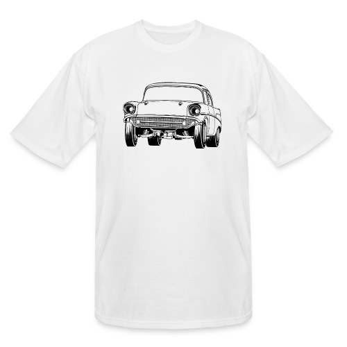 Gasser Up 1957 Chevy Drag Car - Men's Tall T-Shirt