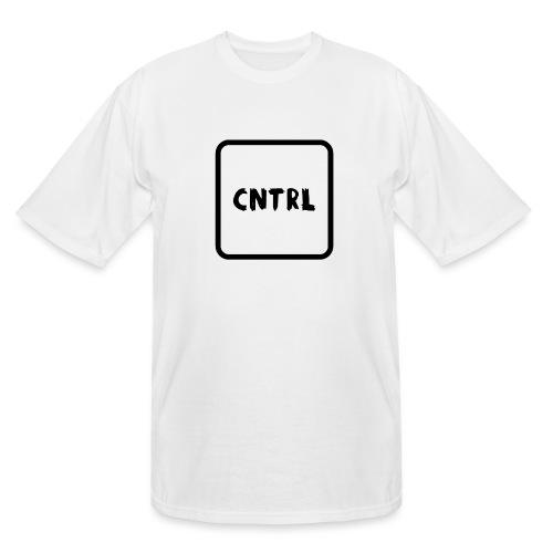 White CNTRL Logo - Men's Tall T-Shirt