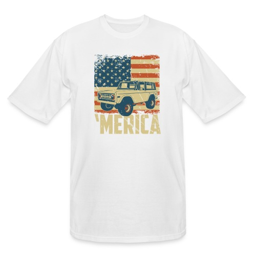 Bronco Truck 'merica Classic Off-Road T-shirt - Men's Tall T-Shirt