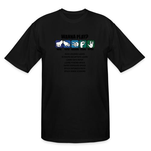 rock paper scissors lizard spock shirt - Men's Tall T-Shirt