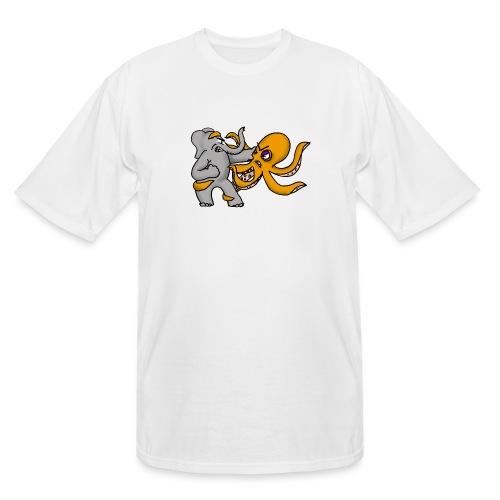 Elephant vs. Octopus T-Shirt - Men's Tall T-Shirt