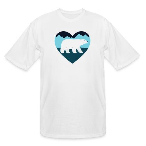 Polar Bear Love - Men's Tall T-Shirt