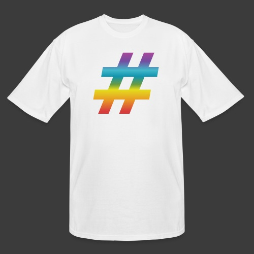 Rainbow Include Hash - Men's Tall T-Shirt