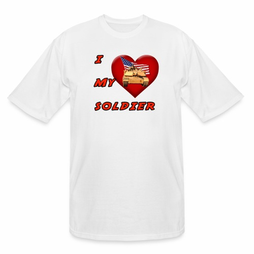 I Heart my Soldier - Men's Tall T-Shirt