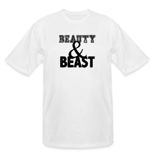 Beauty & Beast Gym Motivation - Men's Tall T-Shirt