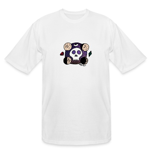 Moon Skull from Outer Space - Men's Tall T-Shirt