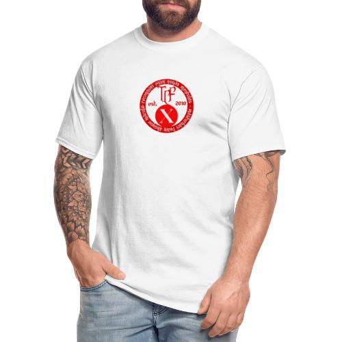10th Anniversary Medallion - Red Marble - Men's Tall T-Shirt