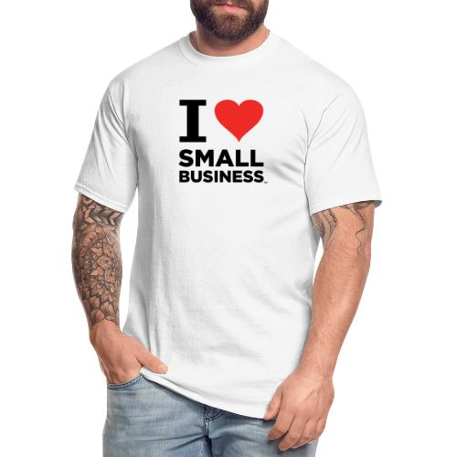 I Heart Small Business (Black & Red) - Men's Tall T-Shirt