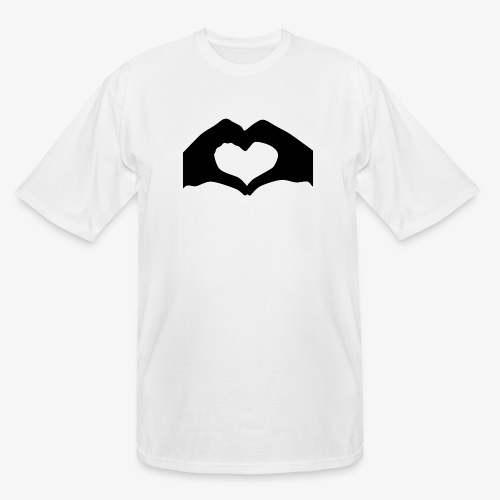 Silhouette Heart Hands | Mousepad - Men's Tall T-Shirt