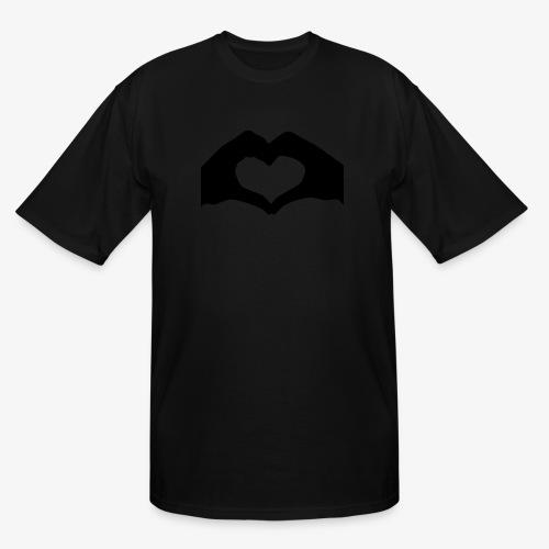 Silhouette Heart Hands   Mousepad - Men's Tall T-Shirt