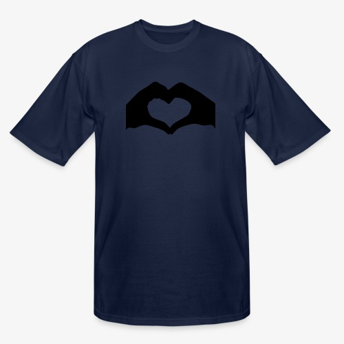 Silhouette Heart Hands | Mousepad - Men's Tall T-Shirt