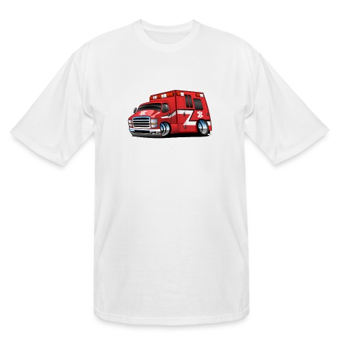 Paramedic EMT Ambulance Rescue Truck Cartoon - Men's Tall T-Shirt