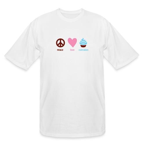 peacelovecupcakes pixel - Men's Tall T-Shirt