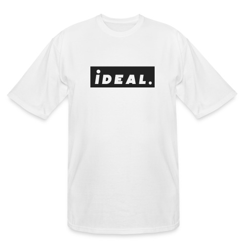 black ideal classic logo - Men's Tall T-Shirt