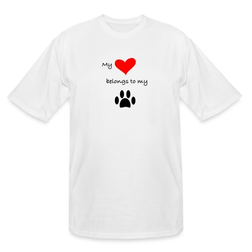 Dog Lovers shirt - My Heart Belongs to my Dog - Men's Tall T-Shirt