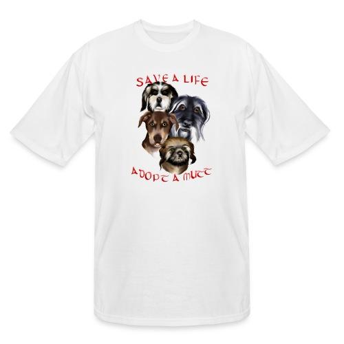 Adopt A Mutt - Men's Tall T-Shirt