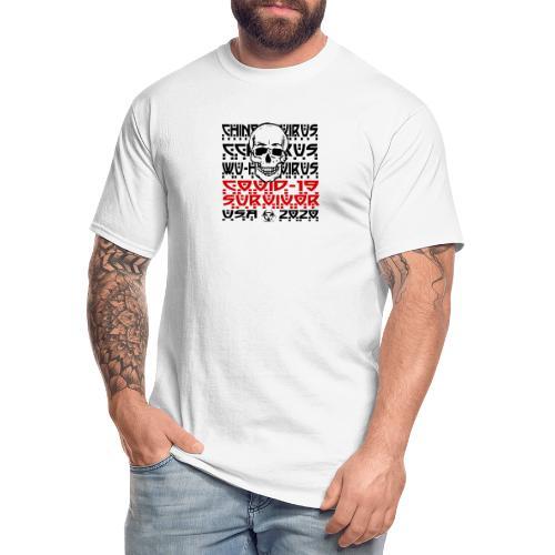 Corona Survivor Skull (USA) - Men's Tall T-Shirt