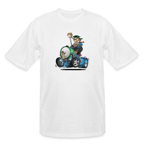 Hot Rod Electric Car Cartoon - Men's Tall T-Shirt
