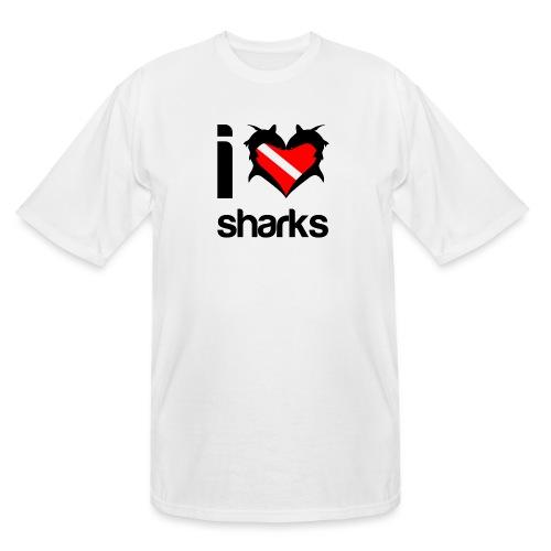 I Love Sharks - Men's Tall T-Shirt